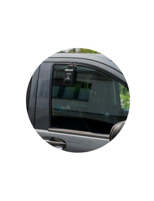 Accessoire  cadenas boitier sécurité clés pour vitre de voiture