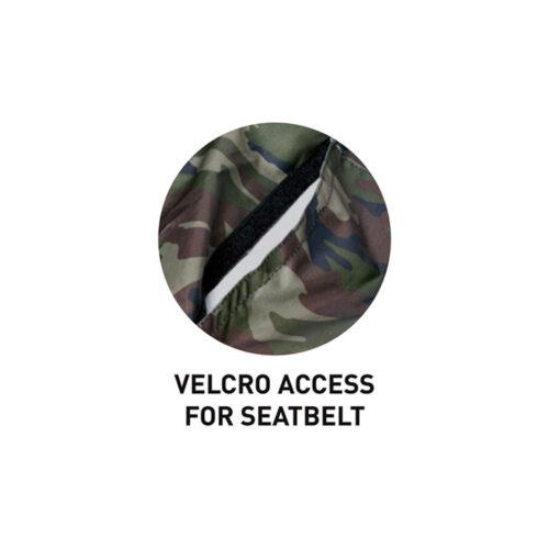 Housse imperméable siège double voiture camouflage